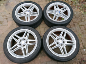 Genuine Mercedes AMG alloy wheels and tyres