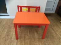 Wooden table and bench great condition