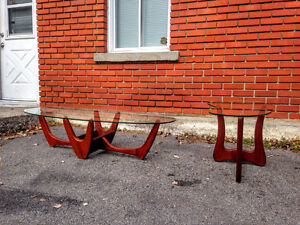 Ensemble Tables Salon Mid Century Style Adrian Pearsall West Island Greater Montréal image 3