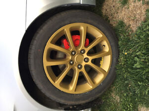 245/45/18 brand new summer cooper tires and gold rims