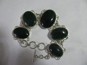 New Ruby or Moss Agate Bracelet 928 Sterling Silver