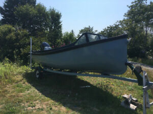 60hp Yamaha motor, boat and trailer for sale