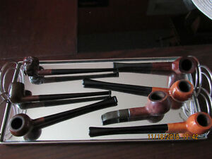 Set of 7 smoking tobacco pipes