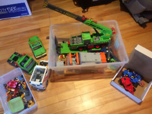 Playmobil Heavy Duty Mobile Crane, Trucks, Dumpster and Cars