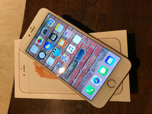 White and Rosegold IPhone 6S plus 64 gb Mint Unlocked