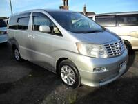 TOYOTA ALPHARD, 2003, 2.4, PETROL, AUTOMATIC, 41,000 MILES IN SILVER
