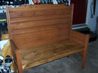Bench made From Antique Bed 53 Inches Long One small chip out of