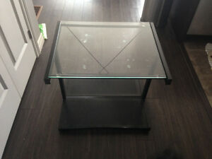 Glass/Metal TV stand