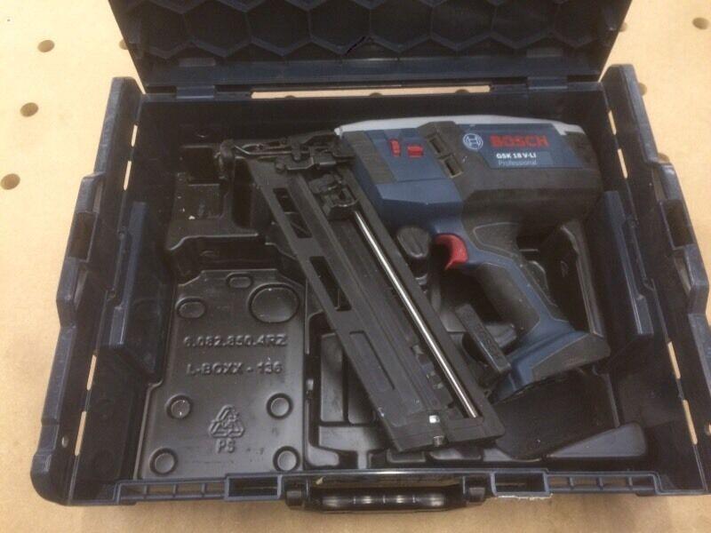Bosch Gsk 18v Li 16g Nail Gun Brad Nailer 2nd Fix In