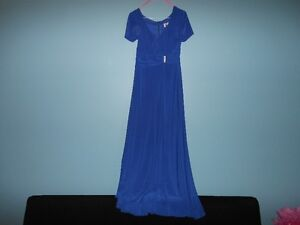 robe de la mere de la mariee couleur bleu