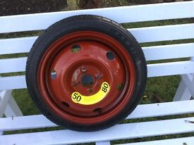 GENUINE HYUNDAI i20 2012/13. SPARE WHEEL SPACE SAVER TYRE BRAND NEW. NEVER BEEN USED.