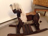 Hand Crafted Wooden Rocking Horse