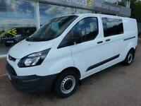 Ford Transit Custom 2.2 Tdci 125ps 290 L2 wb Double Cab 6 Seat Crew Van Panel