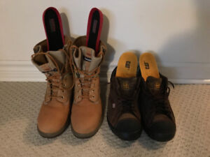 Size 9 Kodiak Safety Work Boots and CAT Safety shoes