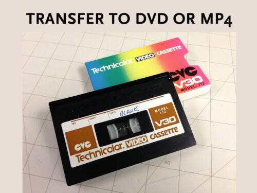 CVC Technicolor Video Tape Transfer Convert Service to DVD or AVI, MP4, NTSC