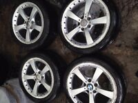 "18"" ALLOY WHEELS BMW 1 SERIES 3 SERIES 5 SERIES NEEDS REFURB NO TYRES"