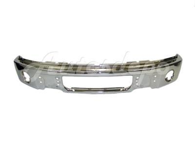 FOR FORD F150 2009-2014 FRONT BUMPER FACE BAR CHROME WITH FOG LAMP HOLES