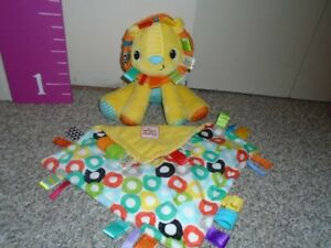 Taggie blanket and raddle stuffie& car seat toy.