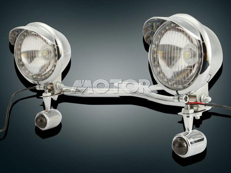 Passing Turn Signals Light Bar For Kawasaki VN Vulcan Classic Nomad Drifter 1500