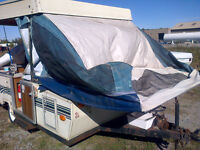 POP UP TENT TRAILER CANVAS ONE QUEEN ONE DOUBLE