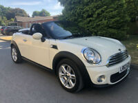 2013 63 MINI ROADSTER 1.6 CHILI PK COOPER WHITE CONVERTIBLE **41,000 MILES**