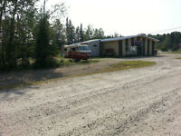 Steel Building on Acreage in Hunting/Fishing Retreat area