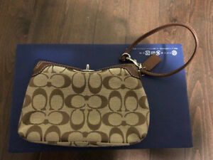 Authentic excellent used condition coach wristlet