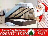 BRAND NEW DOUBLE LEATHER STORAGE BED Available with Mattress Freeland