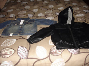 NEW LEATHER JACKET  WITH HOOD SIZE 3T. NEVER WORN FROM SMOKE & P St. John's Newfoundland image 3