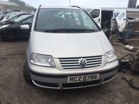 2002 Volkswagen sharan, 1.9 diesel, breaking for parts only, all parts available