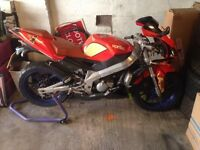 2008 Aprilia RS 50 for spares or repair. V5 present