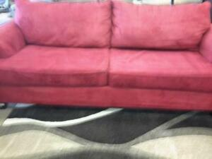 *** USED *** DYNASTY 1101 RED SOFA/LOVE   S/N:51146749   #STORE545