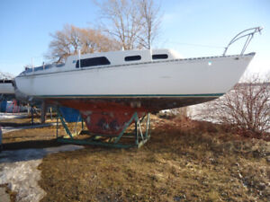 REDUCED Grampian 26 Sailboat with 4-stroke Motor and Cradle