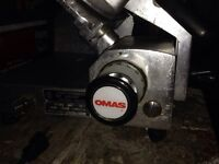 Omas commercial gear driven meat slicer