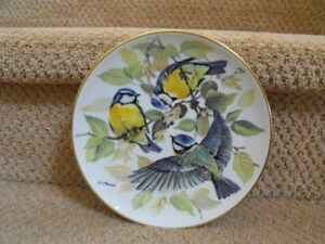 WWF Blue Titmouse Bradford Exchange  Collector Plate