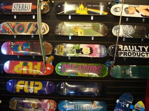 Skateboards, grip, trucks @ Fanfare New Minas