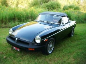1975 MGB Black on Black