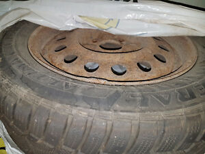 Set of 4 Winter Tires 195/60/15 on Steel Rims 15""