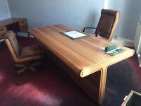 Techno Linea Italia executive desk and 2 chairs! NEW PRICE!