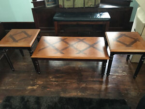 Wood Coffee table & end table set (3pc)