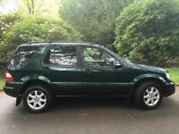 Mercedes ML270 2.7TD AUTO CDI,Price to INCLUDE WARRANTY,BLK LEATHER,FSH