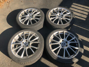 "Enkei 19"" Rims SAE J2530 Bolt with tires 235/40R19 Nexen"