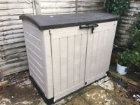 Plastic storage box from b and q was £115