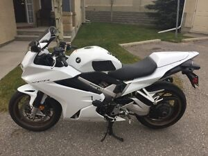 Immaculate White 2014 Honda VFR800F ABS with aftermarket extras