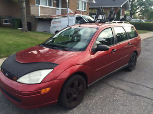2001 Ford Focus Wagon Cherry Red 5 Vitesse Manual