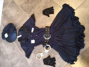 Cop Halloween costume/dress up for girls size 6-8