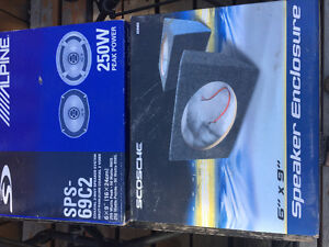 Sold Alpine speakers and enclosure brand new $60