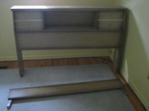 Vintage Bookcase headboard and footboard