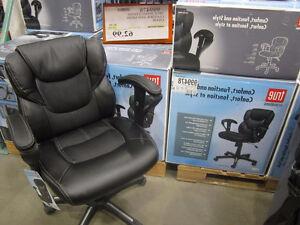 Leather and Mesh Black Office Chair/ Chaise de Bureau noire