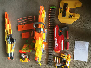 Nerf gun toys and accessories